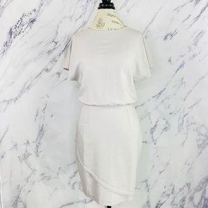 ASOS Tall Open Back Dress Light Grey Sz 6 NWT